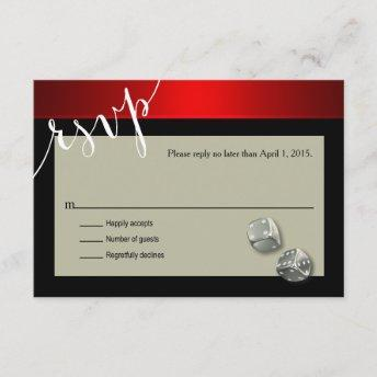 RSVP Vegas Casino Chip | red silver black