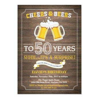 Rustic Beer Surprise 50th Birthday