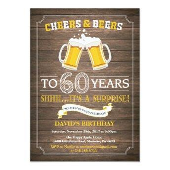 Rustic Beer Surprise 60th Birthday