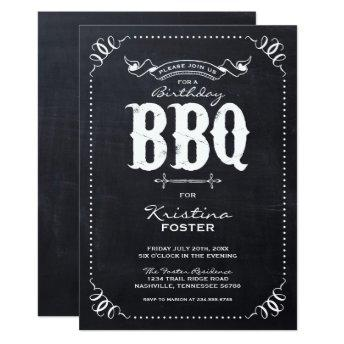 Rustic Chalkboard Birthday Party BBQ