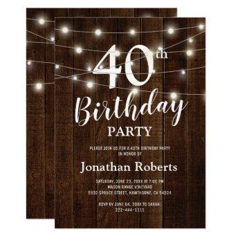 Rustic Country 40th  Party | Custom Age