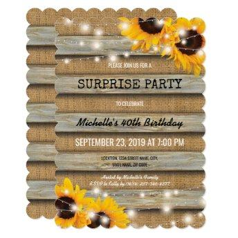 Rustic Country Surprise  Party