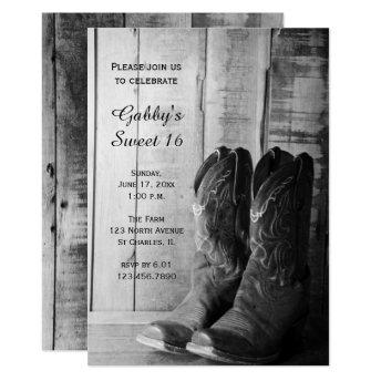 Rustic Cowboy Boots Sweet 16 Barn Birthday Party