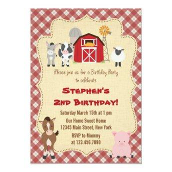 Rustic Farm Animal Birthday Party