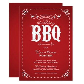 Rustic Red Birthday Party BBQ