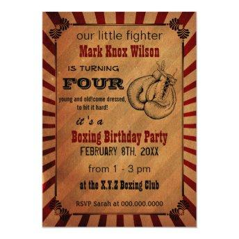 Rustic Vintage Boxing Birthday