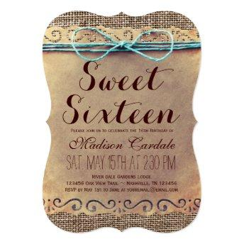 Rustic Vintage Sweet Sixteen Birthday
