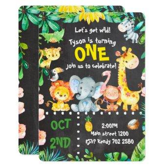 Safari Animals Invitation Jungle Birthday ZOO