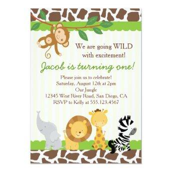Safari Boy 1st Birthday Party