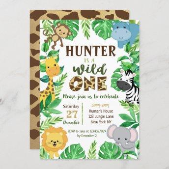 Safari Jungle Animals Birthday Invitation