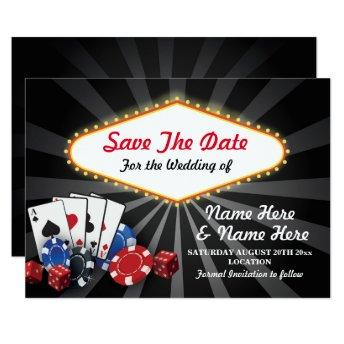 Save The Date Las Vegas Casino  Dice