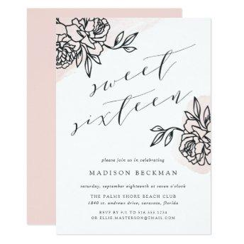 Secret Garden Sweet Sixteen Invitation