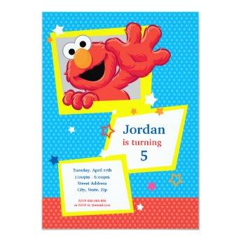 Sesame Street | Elmo - Polka Dot & Stars Birthday Invitation
