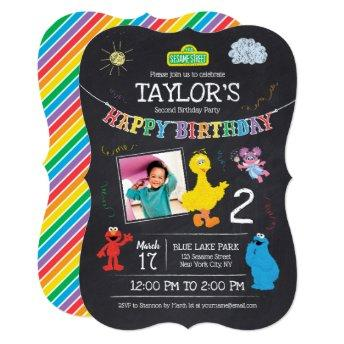 Sesame Street Pals Chalkboard Photo Birthday