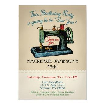 Sewing Birthday Invitation Sew Crafter Fashion