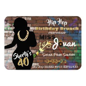 Shorty's 40 | 90's Hip Hop Urban Birthday Invitation