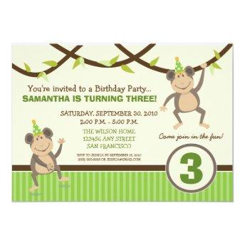 Silly Monkeys Birthday Party  (lime)