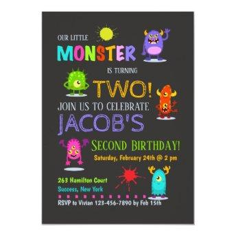 Silly Monsters Invitation