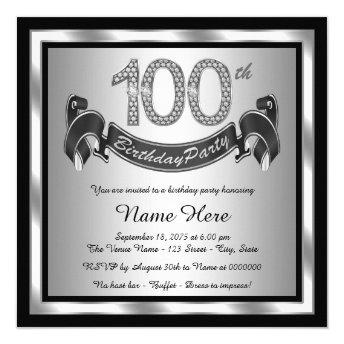 Silver 100th Birthday Party
