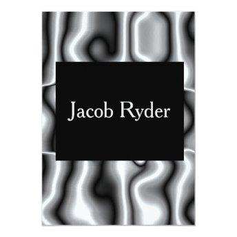 Silver Metal Bar Mitzvah Invite