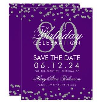 Silver Save The Date Elegant 40th Birthday Party