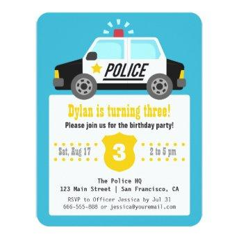 Siren Police Car Kids  Party