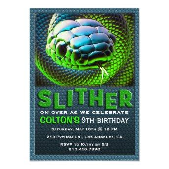 Slither Snake Green Reptile Birthday