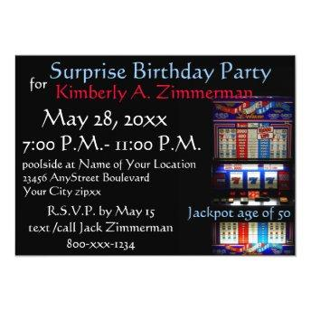 Slot Machine Surprise Birthday Party
