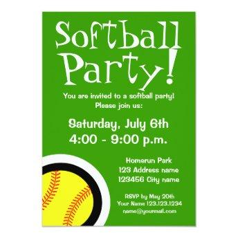 Softball party  for Birthdays and BBQ