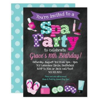 Spa Party Invitation - Kids Birthday Spa Party