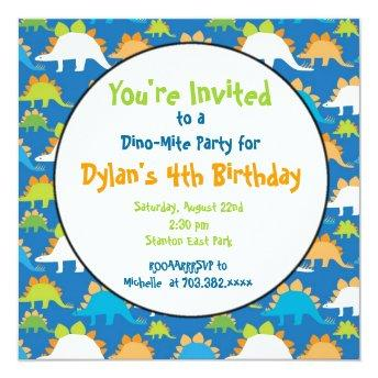 Stegosaurus Dinosaur Birthday Party