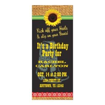 Sunflower Cowgirl Birthday Party