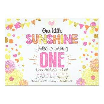 Sunshine Lemonade Pink Birthday