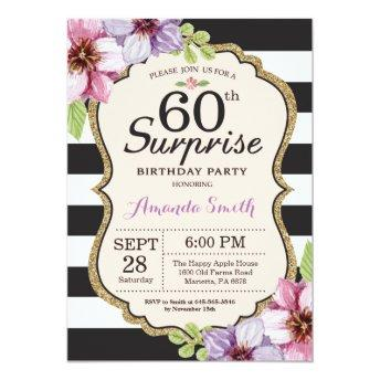 Surprise 60th Birthday  Women Floral