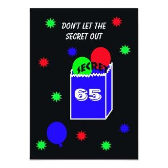 Surprise 65th Birthday Party Invitation SECRET