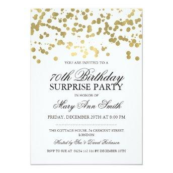 Surprise 70th Birthday Party Gold Foil Confetti