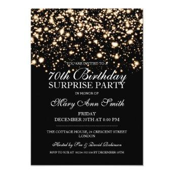Surprise 70th Birthday Party Gold Midnight Glam