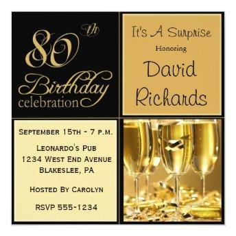 Surprise 80th Birthday Party
