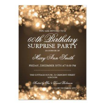 Surprise Birthday Party Gold Sparkling Lights