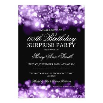 Surprise Birthday Party Purple Sparkling Lights