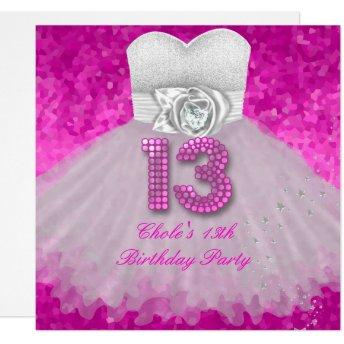 Sweet 13 13th Birthday Party Girls Hot Pink
