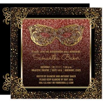Sweet 16 Masquerade Party Pink Gold Sweet Sixteen