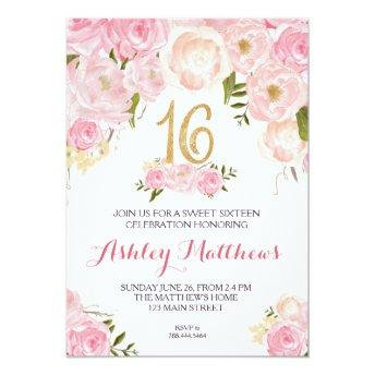 sweet sixteen 16 birthday Floral ,