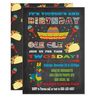 Taco Twosday Tuesday Mexican Fiesta 2nd Birthday