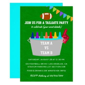 Tailgate Football Match Party Invite