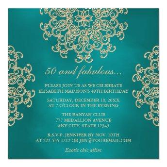 TEAL AND GOLD INDIAN INSPIRED BIRTHDAY