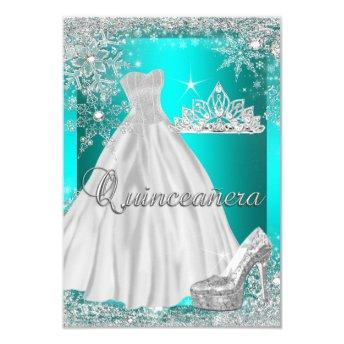 Teal Blue Quinceanera 15th Birthday Party