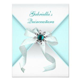 Teal Blue Quinceanera