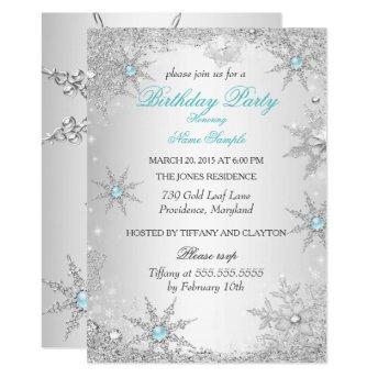 Teal Winter Wonderland Birthday Party