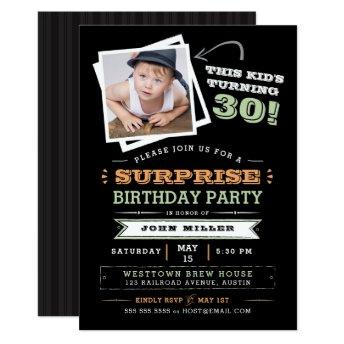 This Kid's Turning Old! Surprise Birthday Photo